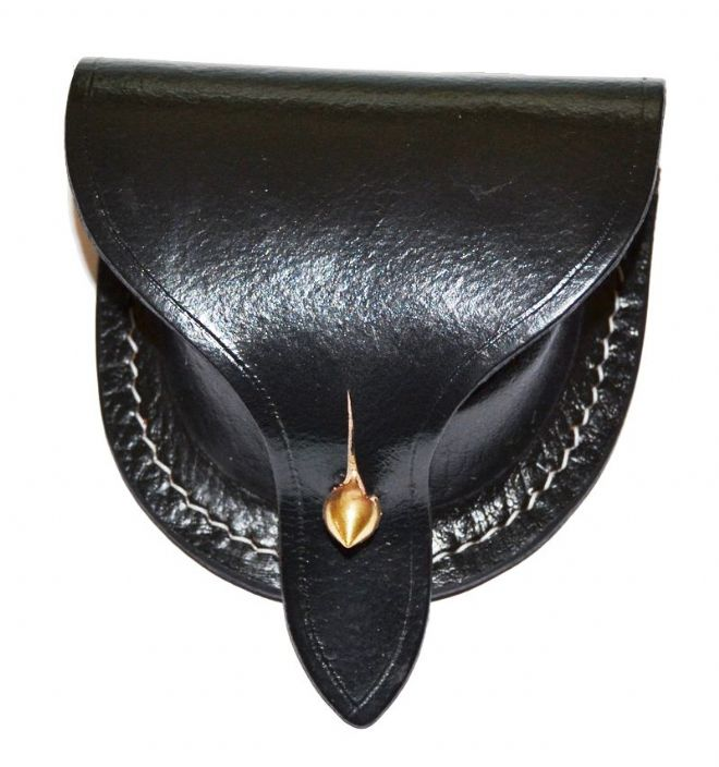 Leather Dovetail Pattern Percussion Cap Pouch